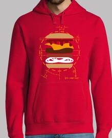 vitruvio burger - sweatshirt nouvelle