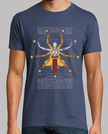 vitruvio omnic camisa azul marino para hombre