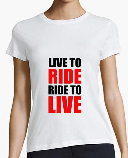 Camiseta viva para montar / paseo para vivir / m