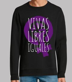 Vivas, Libres e Iguales (Sudadera)