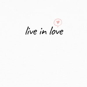 T-shirt Live in Love