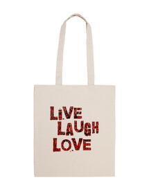 vivo beach bag risata amore - rosso