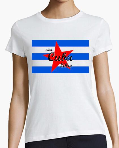 Tee-shirt vivre libre Cuba