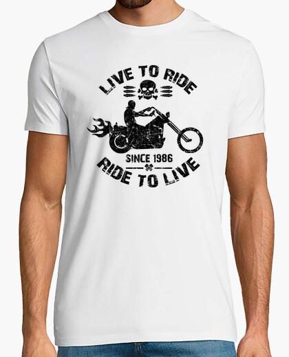 Tee-shirt vivre pour rouler depuis 1986
