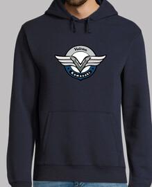 vn750 - gris - bleu - sweatshirt