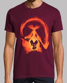 voglio essere un mago del fuoco - camicia da uomo