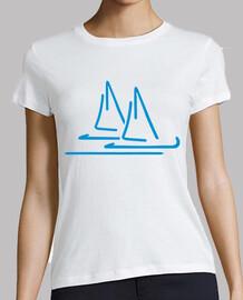 voile bateau bleu