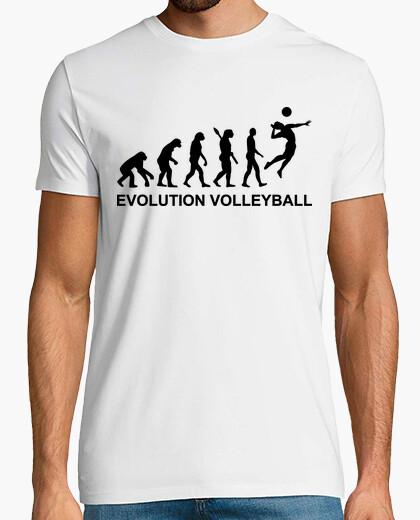 Camiseta voleibol de la evolución