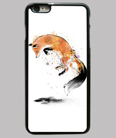 volpe rossa che salta nella snow