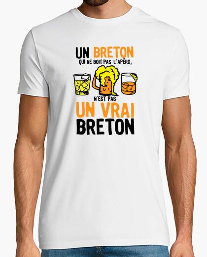 Tee-shirt Vrai Breton boit Apero humour alcool