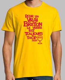 Vrai Breton verre trop petit humour