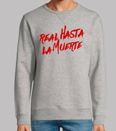 vrai sweat-shirt à mort (lettres rouges)