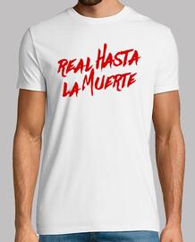 vrai t-shirt à mort (lettres rouges)