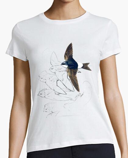Camiseta Vuela blanca chica