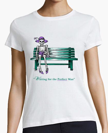 Tee-shirt Waiting for the Perfect Man (En Attente de L'Homme Parfait)