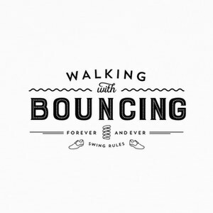 Camisetas Walking with bouncing forever - Black