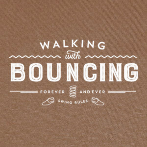 Camisetas Walking with bouncing forever - White