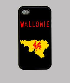 Wallonie. Funda iPhone 4, negra