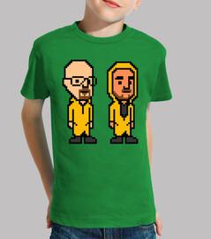 Walter White & Pinkman 8 Bits (Camiseta Niño)