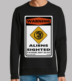 Warning Aliens Sighted Sign