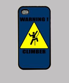 Warning climber
