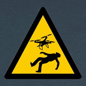Camisetas Warning Drones