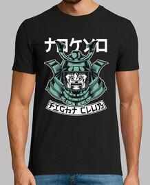 warrior samurai vintage fight t-shirt