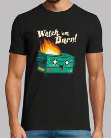watch em burn shirt hombre