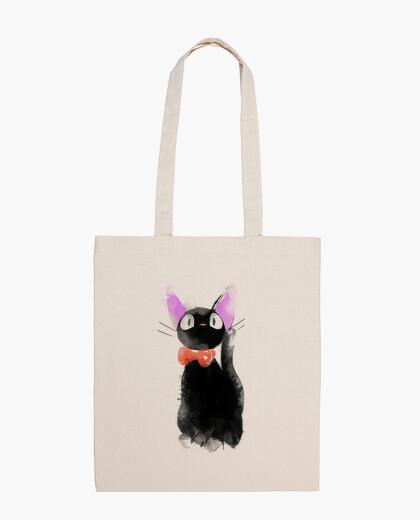 Watercolor cat bag