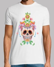 Watercolor sugar skull