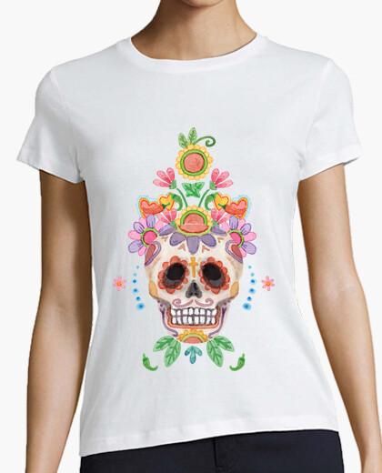 Camiseta Watercolor sugar skull