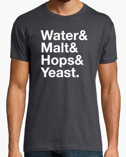 Camiseta Water&Malt&Hops&Yeast