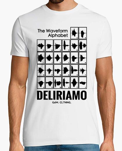 T-shirt Waveform Alphabet Deliriamo