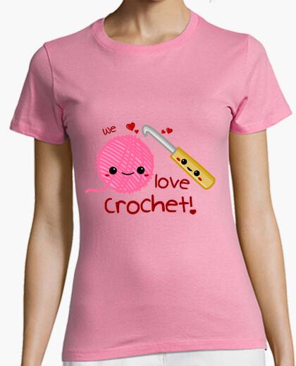 Camiseta We love Crochet!