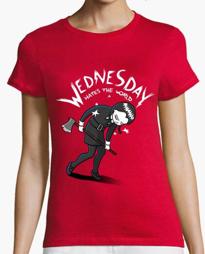 Camiseta Wednesday Hates The World