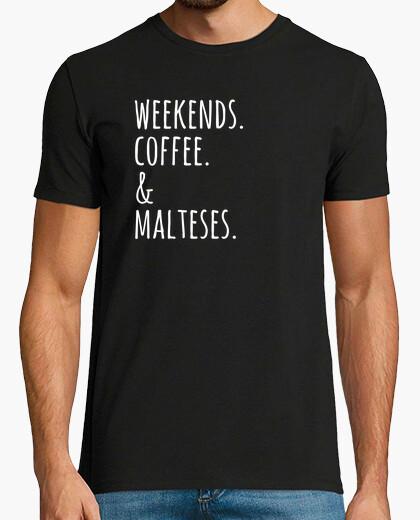 Tee-shirt week-end coffee maltais