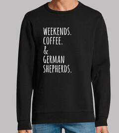 Weekends Coffee German Shepherd