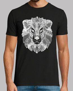weißes löwen- männer t-shirt