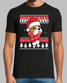 Weihnachtsenglischer Bulldoggenhund