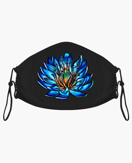 Weird Multi Eyed Blue Water Lily Flower mask