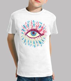 weird psychedelic blue eye