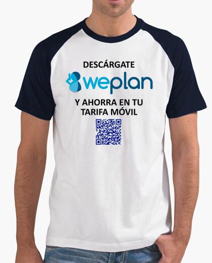 Camiseta WeplanApp QR Chico Frontal