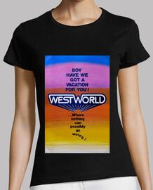 Westworld Affiche Femme Noir