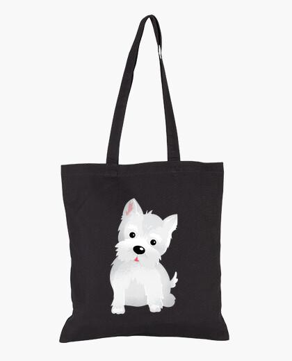 Westy dog tote bag