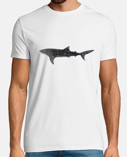 whale shark man t-shirt