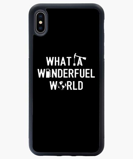 Coque iPhone XS Max WHAT A WONDERFUEL WORLD (écologie)