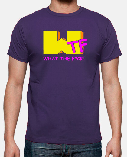 Camisetas What The F*ck - chico. (Versionando el logo de MTV)