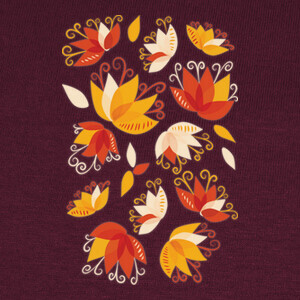 Whimsical Abstract Lily Flowers T-shirts