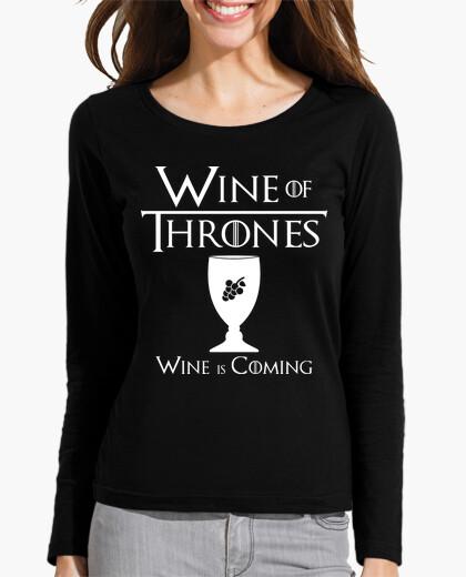 Camiseta Whine Of Thrones - M/L chica black