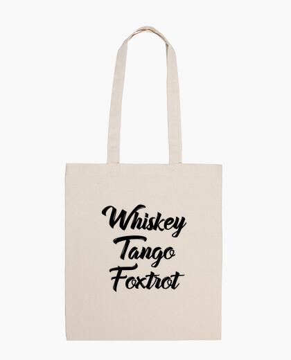 Sac whisky tango foxtrot wtf shirt avec tex
